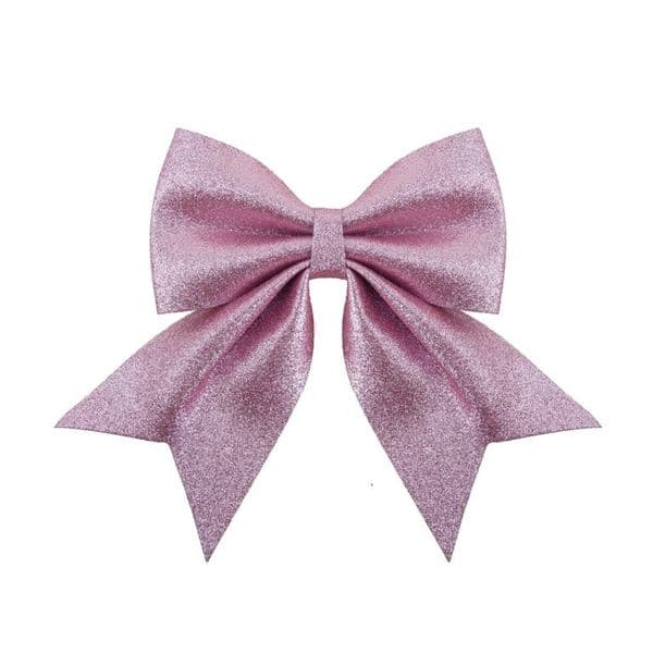 Davies Products Luxe Glitter Bow - 20 x 24 Blush